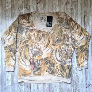 Chaser NWT Tiger Print Relaxed Comfy Pullover